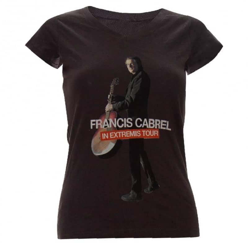 T-shirt affiche femme Francis Cabrel in Extremis Tour