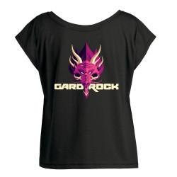 T-shirt femme ample noir Dragon Garorock 2018