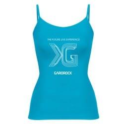 Débardeur bleu femme logo Festival Garorock 2017