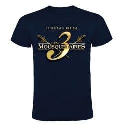 T-shirt logo Les 3 Mousquetaires