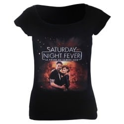 T-shirt femme affiche Saturday Night Fever