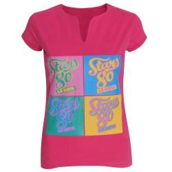 T-shirt femme Stars 80 façon Warhol