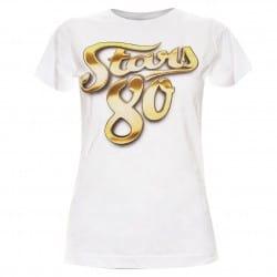 T-shirt femme logo or Stars 80