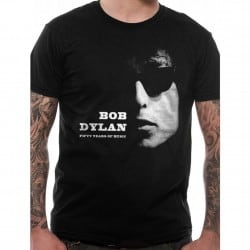 T-shirt BOB DYLAN - Fifty Years Noir