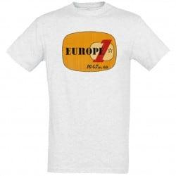 T-shirt Blanc logo jaune Europe 1