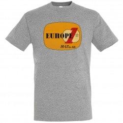 T-shirt Gris logo jaune Europe 1