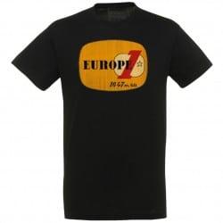 T-shirt Noir logo jaune Europe 1