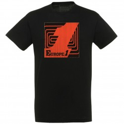 T-shirt Noir logo Orange Europe 1