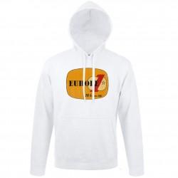 Sweat blanc logo jaune Europe 1