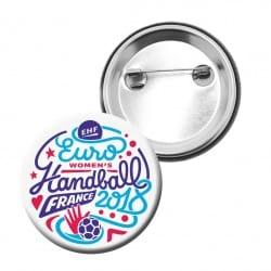 Badge Logo Euro Handball Blanc
