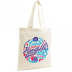 Sac Shopping Logo Euro Handball Blanc
