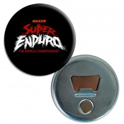 Badge Decapsuleur Logo Super Enduro Noir