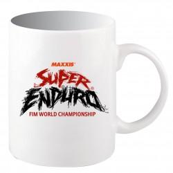 Mug Logo Super Enduro Blanc