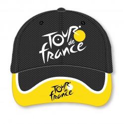 Casquette 6 pans noir/ jaune Tour de France 2020