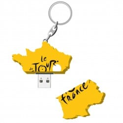 Clef usb pvc carte france jaune 4go