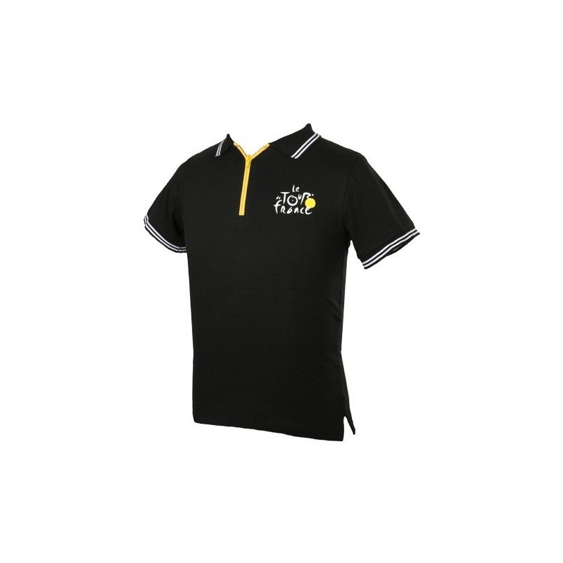 Polo logo Tour de France col zip