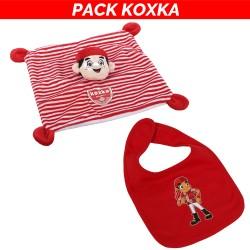 Pack Koxka : doudou + bavoir