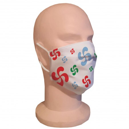 Masque de protection Croix Basque