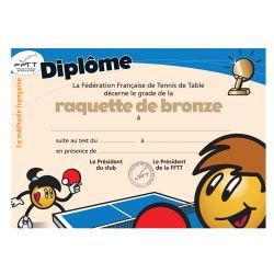 Diplôme méthode française - raquette de bronze