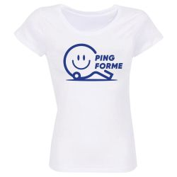 Pack de 5 T-shirts Femme BLANC Taille M Label Ping Forme