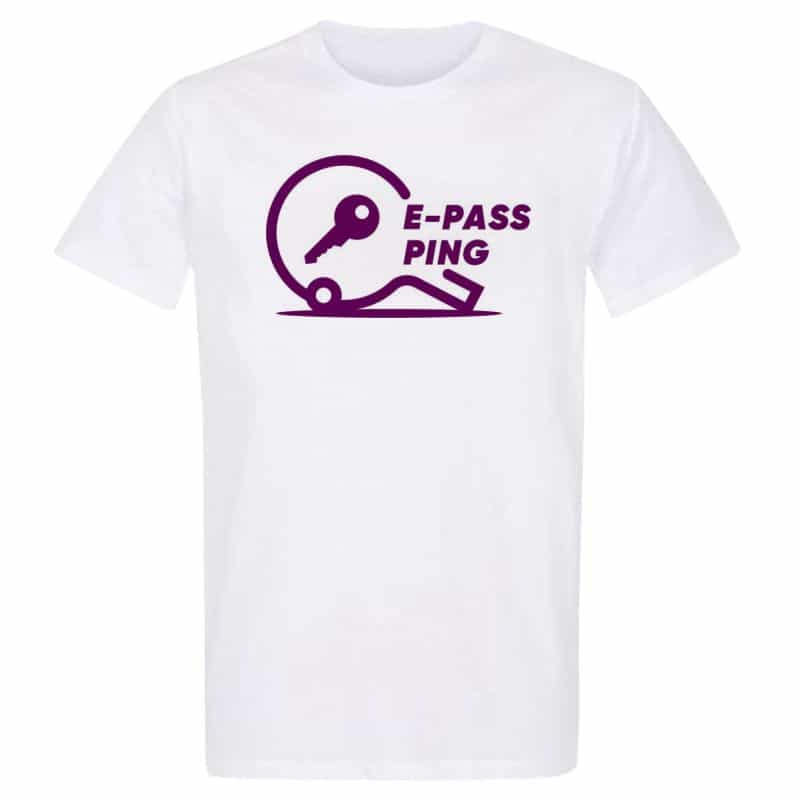Pack de 5 T-shirts BLANC Taille S Label E-pass Ping