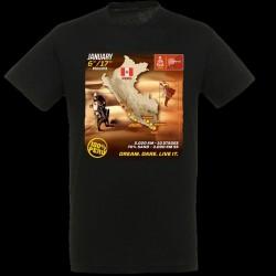 T-shirt Homme Parcours Dakar 2019 noir