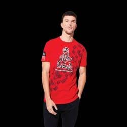 T-shirt logo T06 Dakar rouge
