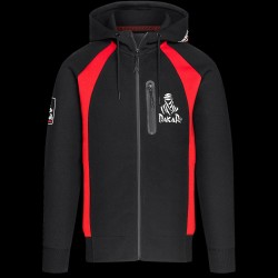 Sweat Dakar Combat Dext Noir/Rouge