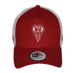 Casquette baseball Trucker New ERA ROUGE Filet  BLANC Logo BO