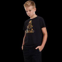 T shirt Enfant NOIR VIP Logo Nomade Or