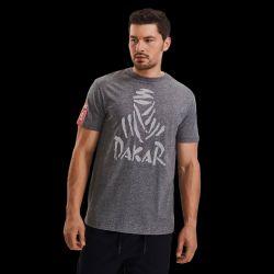 T shirt GRIS MELANGE Logo Nomade ton sur ton