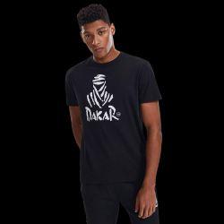 T shirt classique NOIR Logo Nomade Blanc