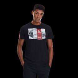 Camiseta Negra 4 Fotos Rojo / Gris