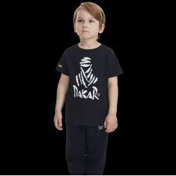 Kid's Black T-shirt - White Dakar Logo Diverse Team DOS
