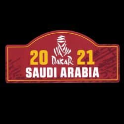 Placa adhesiva grande Rally Arabia Saudita 2021