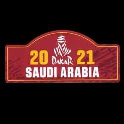 Large Sticker Plate Rally Saudi Arabia 2021