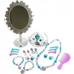 REINE DES NEIGES _ Coffret bijoux et miroir sur pied
