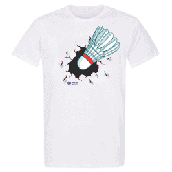 T shirt BLANC Crash