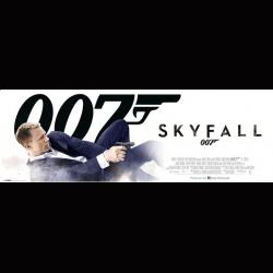 Affiche film SKYFALL -...