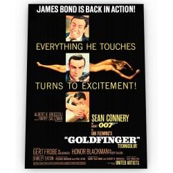 Affiche film Goldfinger...