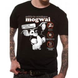 GREMLINS   MOGWAI GUIDE T Shirt BLACK