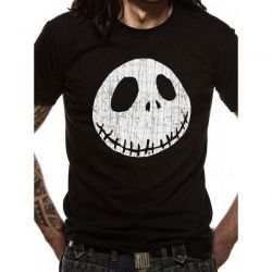 NIGHTMARE BEFORE CHRISTMAS   JACK CRACKED T SHIRT