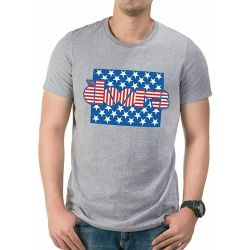 THE DOORS   STARS AND STRIPES T SHIRT