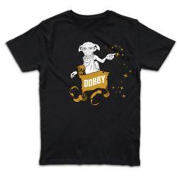 T shirt NOIR  HARRY POTTER  DOBBY STARS