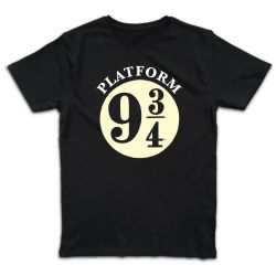 T shirt NOIR  HARRY POTTER HOGWARTS EXPRESS 9 3 4