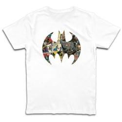T shirt BLANC BATMAN BAT...
