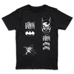 T shirt NOIR BATMAN SHATTER...
