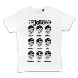 T shirt BLANC JOKER MANY...