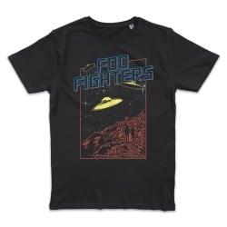 T shirt NOIR FOO FIGHTERS UFO