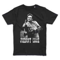 T shirt NOIR JOHNNY CASH...